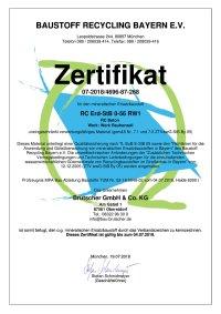 Zertifikat 3696 Beton