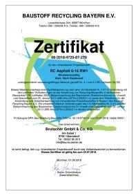 Zertifikat 3723 Asphalt