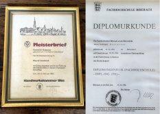Meisterbrief Diplom Ferdinand Brutscher jun