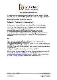 Werkpolier Vorarbeiter Hochbau (m / w)