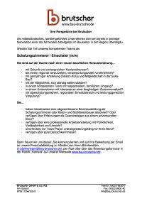 Schalungszimmerer Einschaler (m / w)
