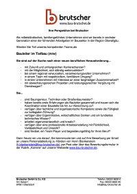 Bauleiter im Tiefbau (m / w)