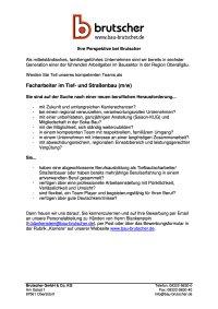 Facharbeiter Tief-und Strassenbau (m / w)
