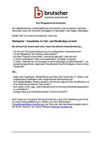 Werkpolier Vorarbeiter Tief-und Straßenbau (mwd)