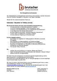 Kalkulator Bauleiter Tiefbau (mwd)