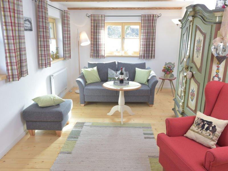 Wohnzimmer im bäuerlichen Stil