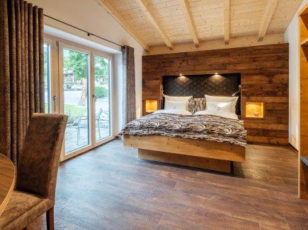 Schlafzimmer im Chalet-Apartment