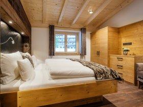 Zweites Schlafzimmer im Chalet-Apartment