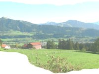 Aussicht Berggasthof Ellegg-Höhe