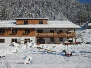 Der Berggasthof zwischen Pulverschnee