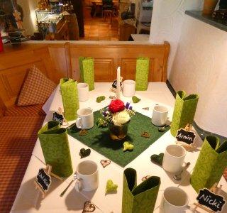 Gedeckter Tisch Hoschzeit