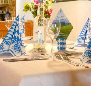 Echt bayrische Tischdeko