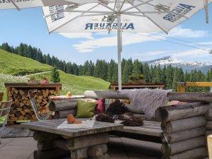 Terrasse mit traumhaften Bergblick