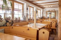 Das urige Restaurant des Berghaus am Söller
