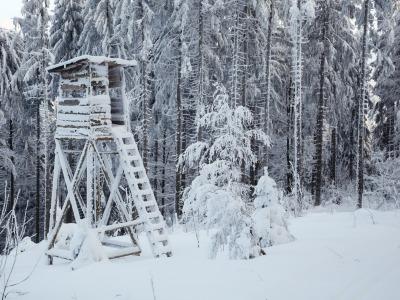 Jägerstand Winter
