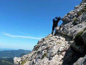 Leichte Kletterstelle
