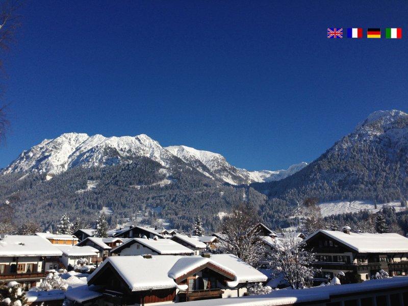 Traumhafter Blick auf das Nebelhorn in Oberstdorf