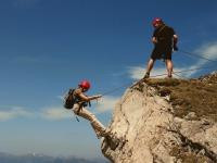 Walser Klettersteig - Abseilen