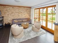 Wohnzimmer mit Schweden-ofen