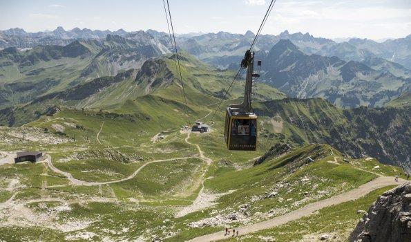 Die Nebelhornbah auf dem Weg zum Gipfel