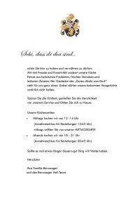Berwanger Hof Speisekarte