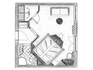 Grundriss Doppelzimmer Besler im Heuwirt des Berwanger Hof - 4 Sterne Hotel im Allgäu