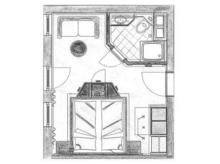 Grundriss Doppelzimmer Burgschrofen im Heuwirt des Berwanger Hof - 4 Sterne Hotel im Allgäu