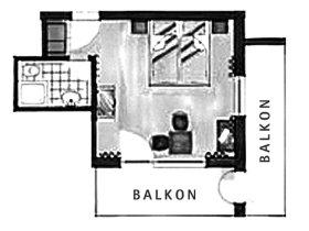 Grundriss Doppelzimmer Zwölferkopf im Berwanger Hof - 4 Sterne Hotel im Allgäu