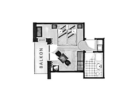 Grundriss Doppelzimmer Trettach im Landhaus des Berwanger Hof - 4 Sterne Hotel im Allgäu