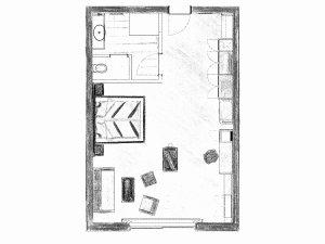 Grundriss Doppelzimmer Himmeleck im Heuwirt des Berwanger Hof - 4 Sterne Hotel im Allgäu
