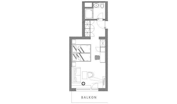 Grundriss Doppelzimmer Riedberger Horn im Berwanger Hof - 4 Sterne Hotel im Allgäu