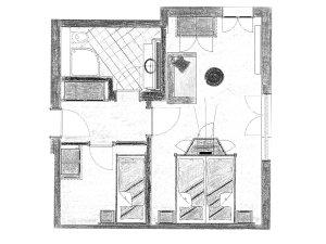Grundriss Doppelzimmer Sonnenkopf im Heuwirt des Berwanger Hof - 4 Sterne Hotel im Allgäu