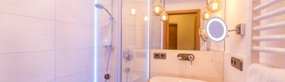 Badezimmer im Berwanger Hof - 4 Sterne Hotel im Allgäu