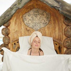 Entspannung in der Heukraxe im 4 Sterne Wellnesshotel im Allgäu