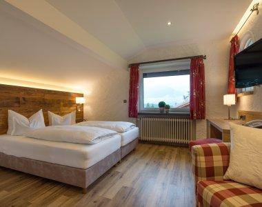 Doppelzimmer Trettach im Landhaus des Berwanger Hof - 4 Sterne Hotel im Allgäu