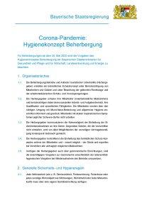 Hygienekonzept Beherbergung