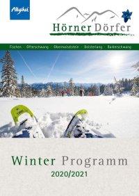 Freizeitprogramm Winter Hörnerdörfer 20/21