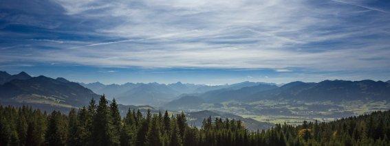 Malerische Panoramaaussicht im Sommer