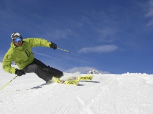 Skifahren auf perfekten Pisten