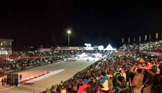 Skispringen Siegerehrung
