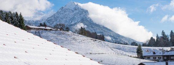 Fantastischer Bergblick im Winter