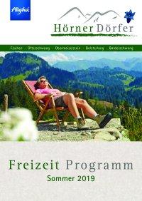 Freizeitprogramm Hörnerdörfer Sommer 2019