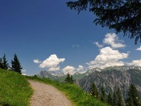 Wandern am Fellhorn, Blick auf Höfats