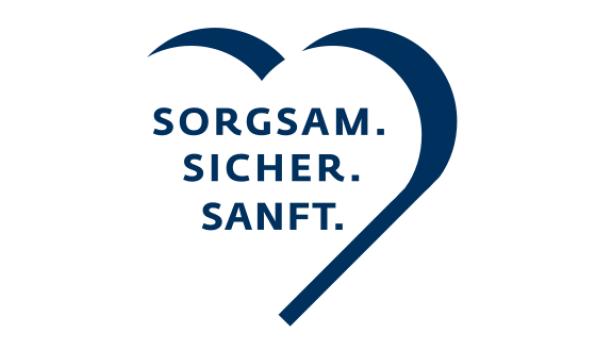 Logo Sorgsam-Sicher-Sanft