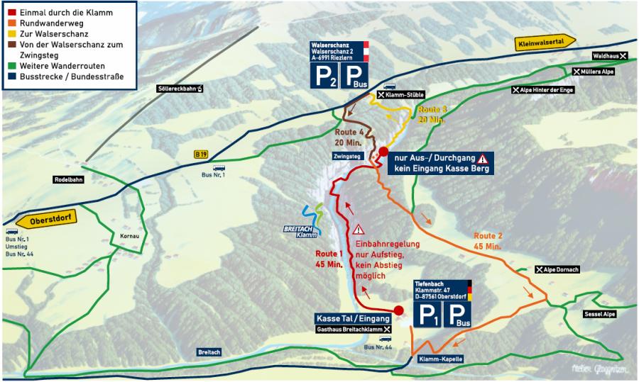 Karte Routen Sommer 2021