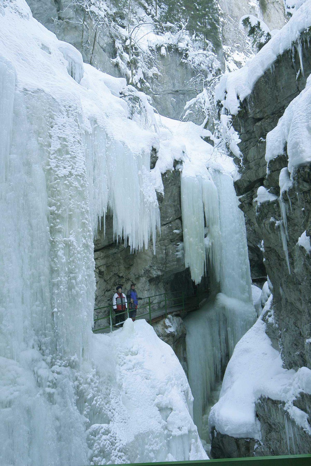 Eiszeit in der Klamm