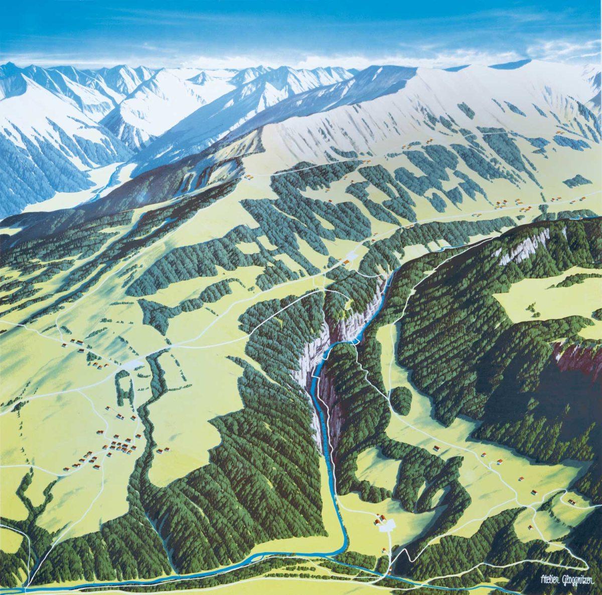 Karte der Breitachklamm