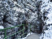 Die Breitachklamm bei Oberstdorf im Winter