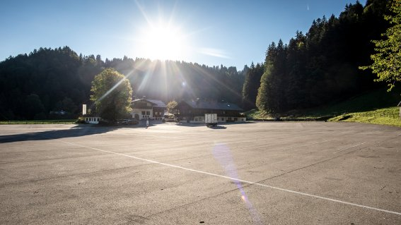 Parkplatz P1 in Tiefenbach