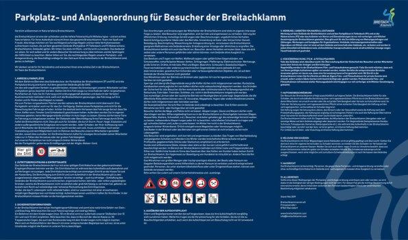 Parkplatz- und Anlagenordnung Breitachklamm